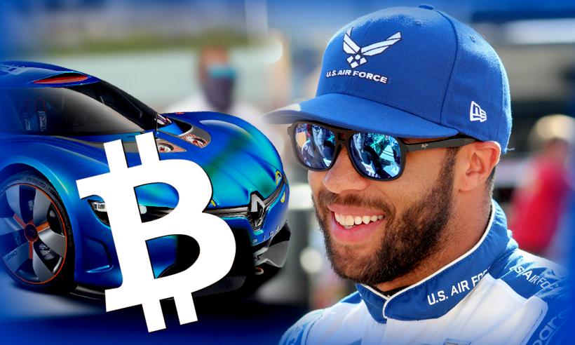NASCAR Driver Bubba Wallace Car Adorns With Bitcoin Logo