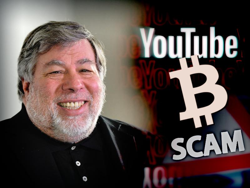 Steve Wozniak Registers Case Against YouTube Over Bitcoin Scam