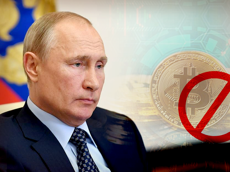 Russian President Signs Bill To Ban Cryptocurrency As a Form of Payment In Country