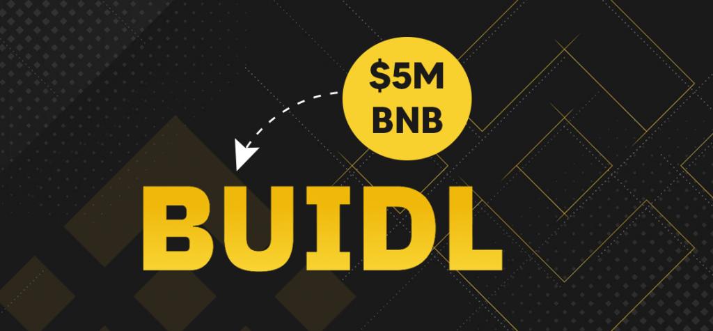 Binance Invests $5M BNB Into Its Smart Chain BUIDL Reward Program