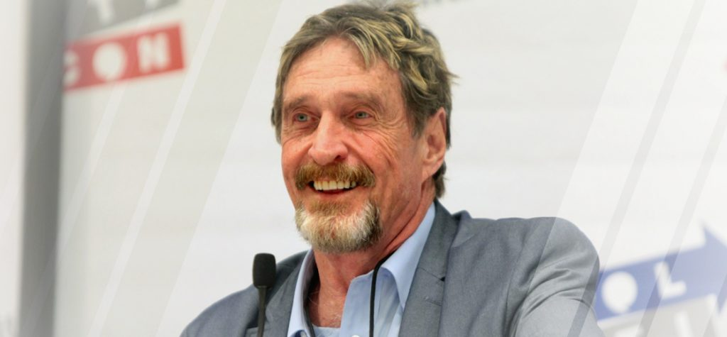 John McAfee Arrested In Spain and Awaiting Extradition to the U.S.