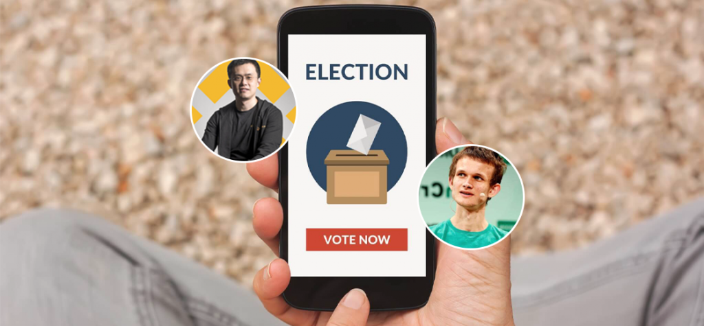 CZ Binance and Buterin Believes Blockchain-Based Voting Apps Are Important