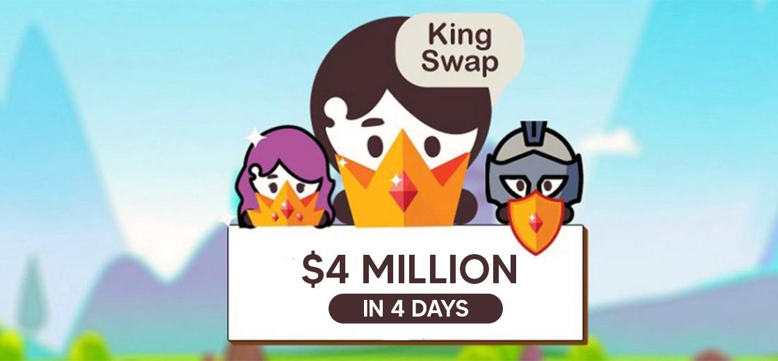 KingSwap Reaches $4 Million Transaction Volume in 3 Days
