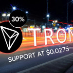 TRON Dives by 30%, Manages to Gain Support at $0.0275