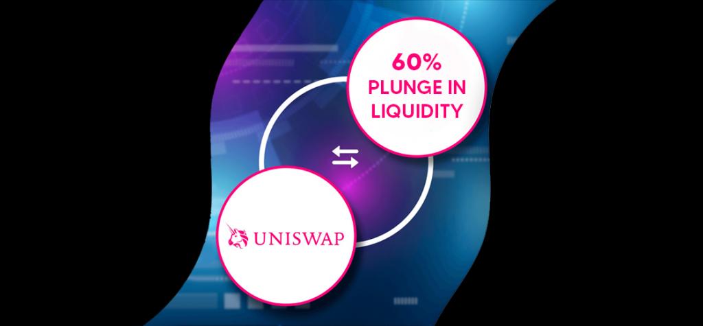 Uniswap Trading Volume Stable Amid 60% Plunge in Liquidity
