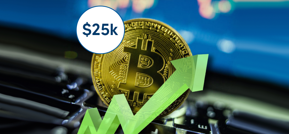 Bitcoin Almost Surges to Fresh Record All-Time High of $25,000