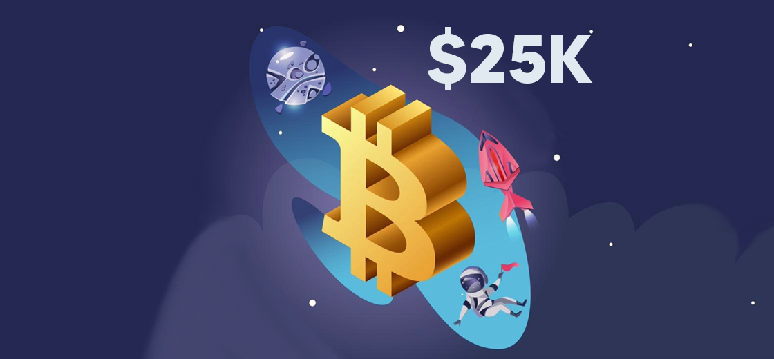 Bitcoin Hits Its New All-Time High of $25,000