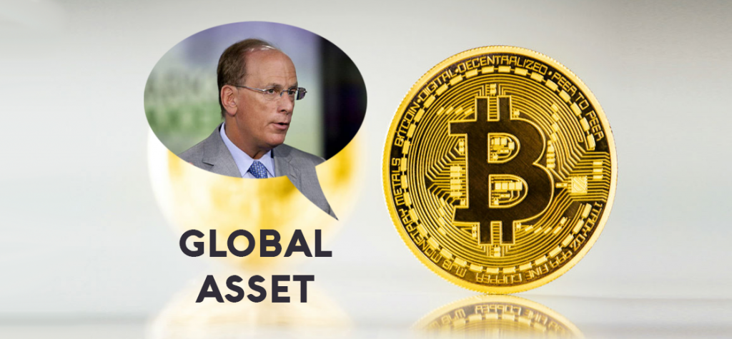 CEO of BlackRock Larry Fink Says Bitcoin Can Evolve Into Global Asset