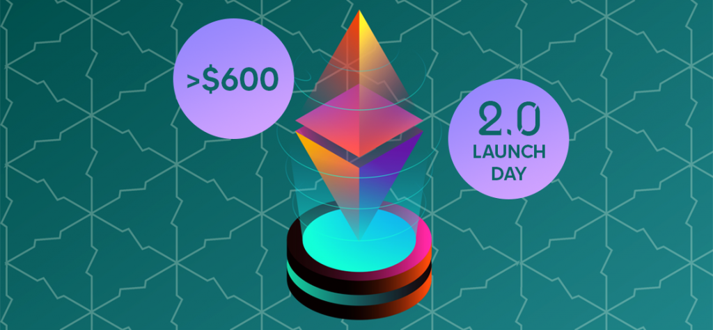 ETH Price Form Resistance Above $600 on Ethereum 2.0 Launch Day