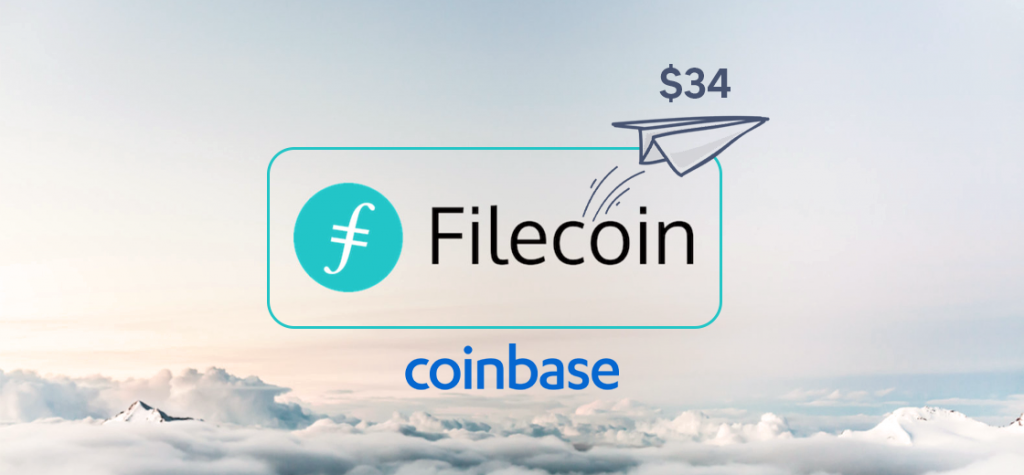 Filecoin Price Surges to $34 as Coinbase Announces Its Listing