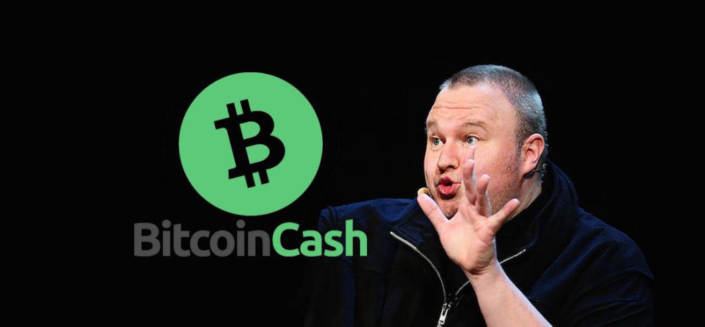 Kim Dotcom's Bullish Endorsement Sends Bitcoin Cash to Highest Levels