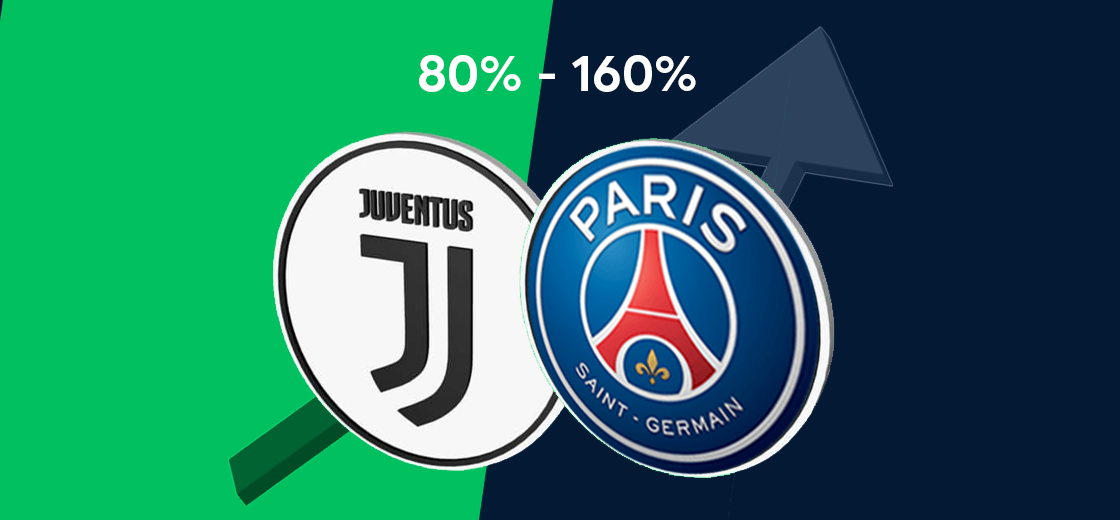 PSG and JUVE Fan Tokens Surged by 80% to 160% Since Listing