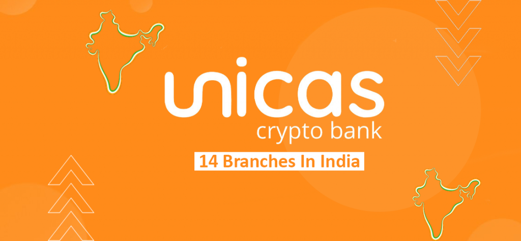 Crypto Bank UNICAS to Launch 14 Physical Branches in India