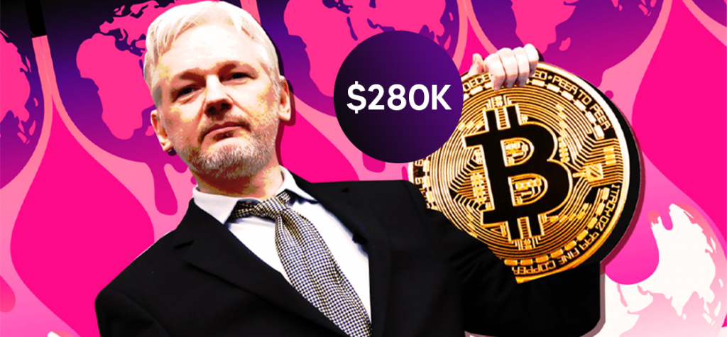 $280,000 in Bitcoin Donated to WikiLeaks in Defence of Julian Assange