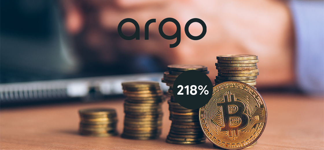 Argo Blockchain Gains With Bitcoin Highs, Soars 218%