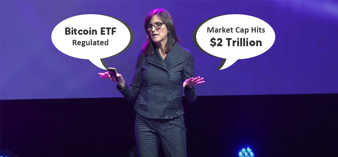 Cathie Wood Believes BTC ETF to be Regulated Until Market Cap Hits $2T