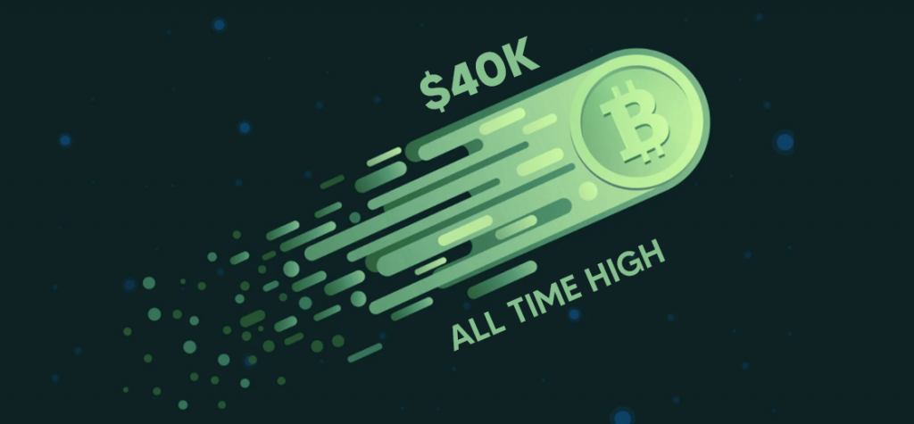 Bitcoin Breaks $40K Barrier and Reaches New All-Time High