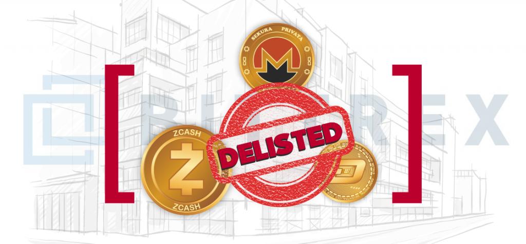 Bittrex Delisting Privacy Coins Monero, ZCash, and Dash