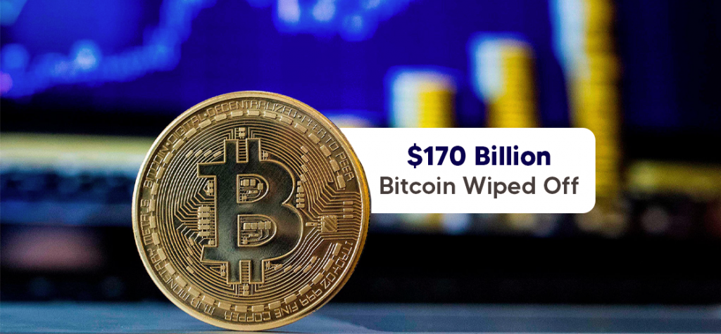 Crypto Market Wipes Off Nearly $170 Billion as Bitcoin Plunges