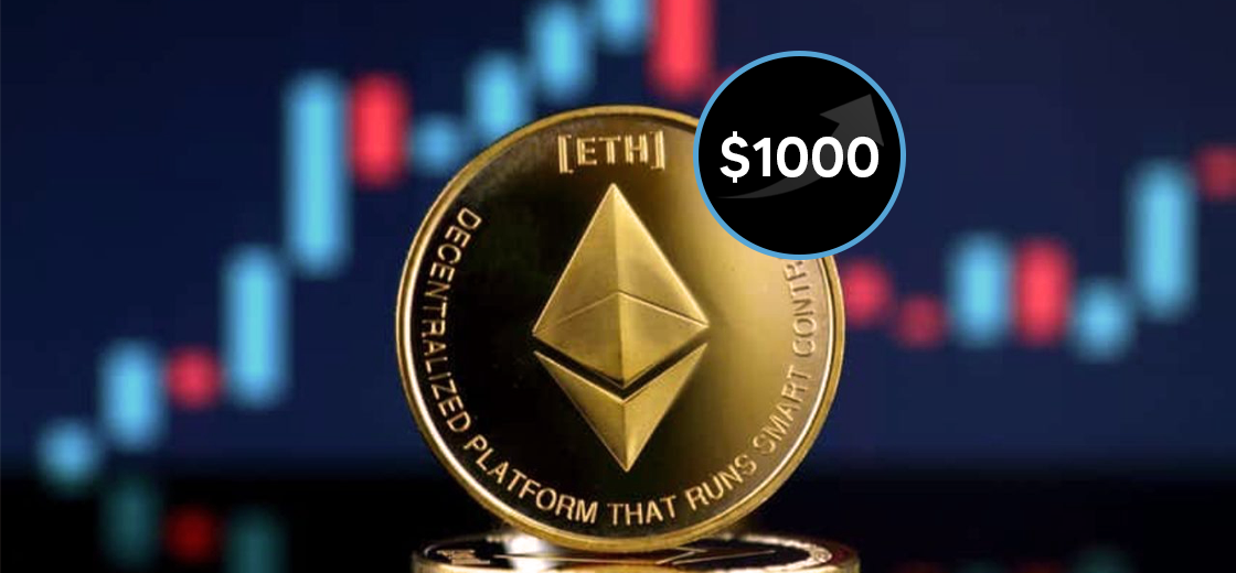 Ethereum Soars Above $1000, Nearing a New ATH