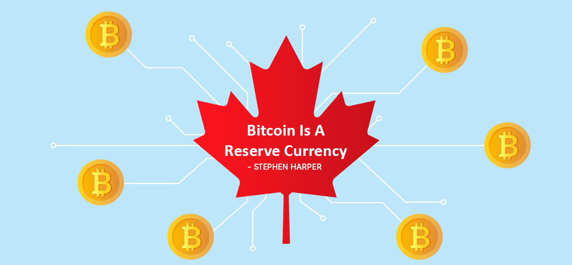 Stephen Harper Sees Bitcoin as Potential Reserve Currency