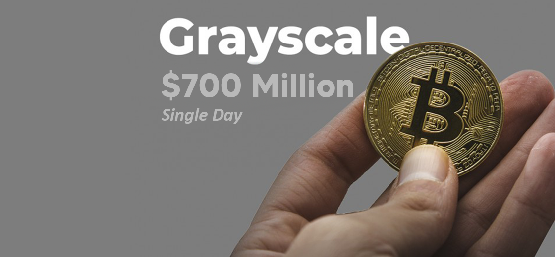 Grayscale Raises $700 Million in Cryptocurrency Asset in a Single Day