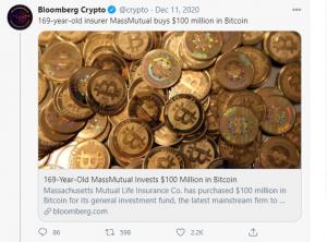 MassMutual $100 Million BTC