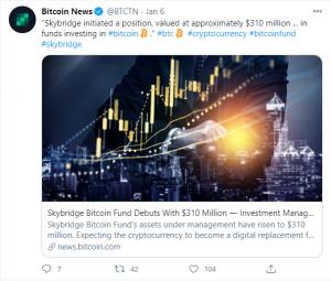 Bitcoin Fund's assets under management