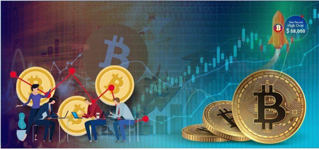 Bitcoin Climbs New Record High Over $58,000