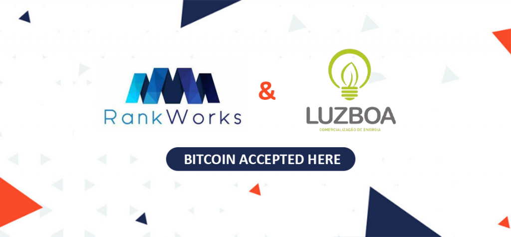 Digital Marketing Firm RankWorks and Energy Firm Luzboa Now Accept Bitcoin as Payment