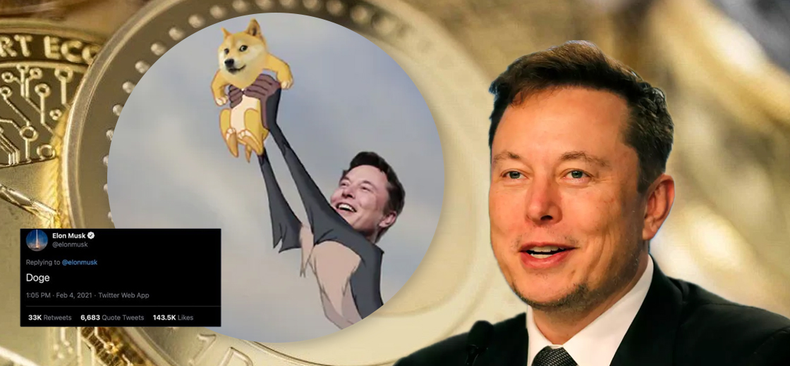 Elon Musk Breaks His Twitter Silence and Sends Dogecoin 50% Up