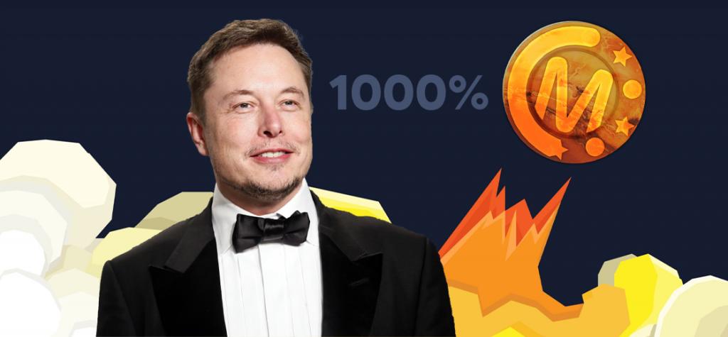 Marscoin Rockets to 1000% After Elon Musk's Tweet