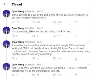Qiao Wang Tweet