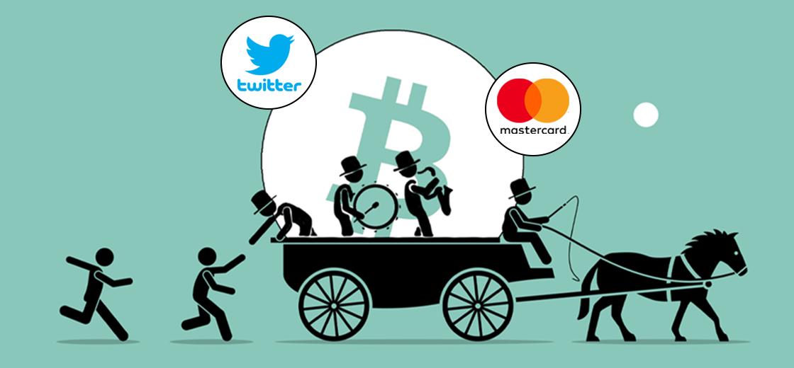 Twitter, Mastercard Jumps on the Bitcoin Bandwagon