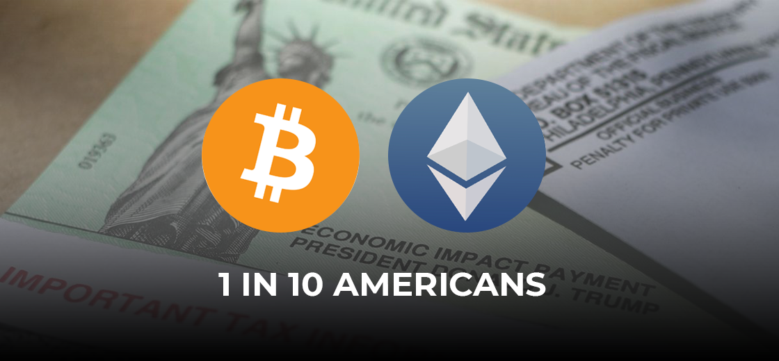 1 in 10 Americans Bought Bitcoin and Ethereum with Stimulus Checks: Poll
