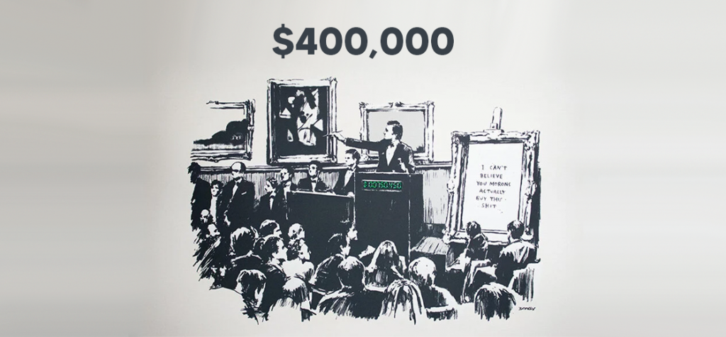 An Original Banksy Painting Sells for Nearly $400,000 as NFT