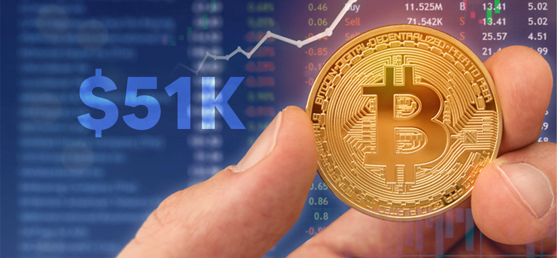 Bitcoin Price Back to Surpassing Above and Beyond $51000