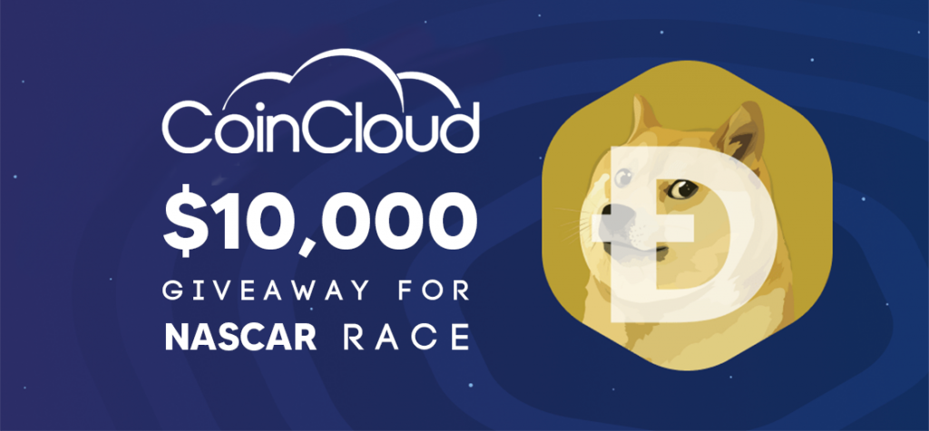 Coin Cloud Announces $100,000 DOGE Giveaway for NASCAR