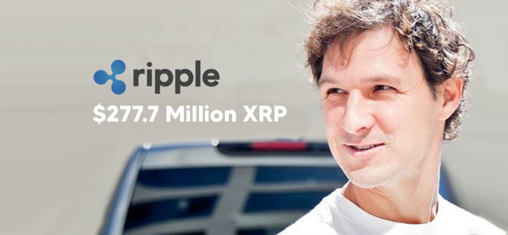 Jed McCaleb Receives $277.7 Million Worth of XRP