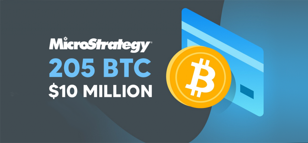 Microstrategy Buys Additional 205 Bitcoin (BTC) for $10 Million