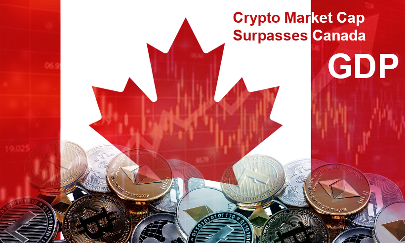 Crypto Market Capitalization Surpasses Canada's GDP