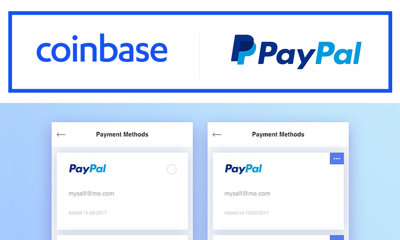 Coinbase Adds Support for Using PayPal to Purchase Cryptocurrencies