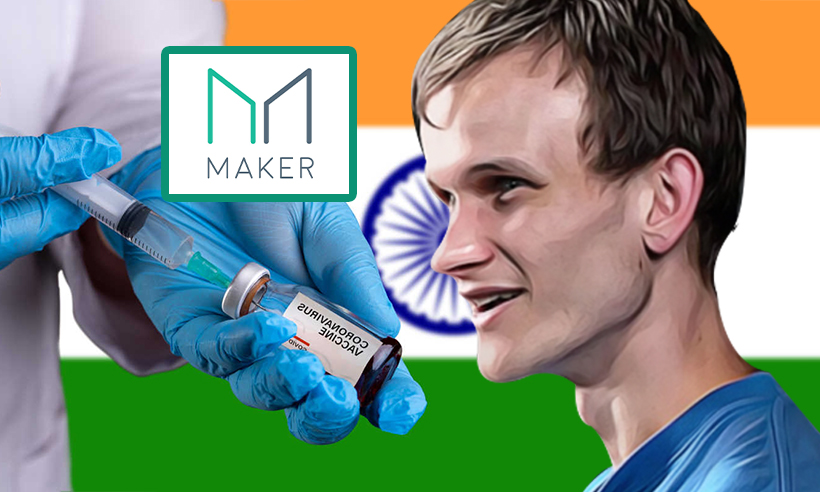 Vitalik Buterin Donates 100 Ethereum and MKR for India's Covid-19 Relief