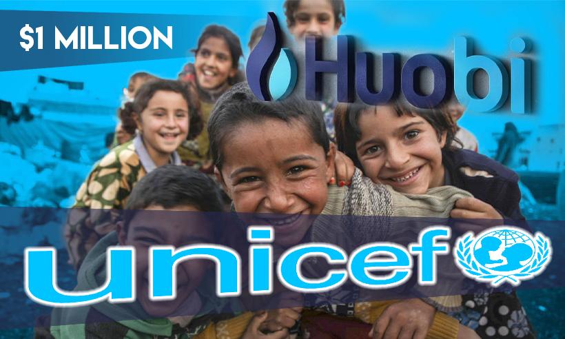 Huobi Presents $1 Million to UNICEF to Foster Blockchain Innovation