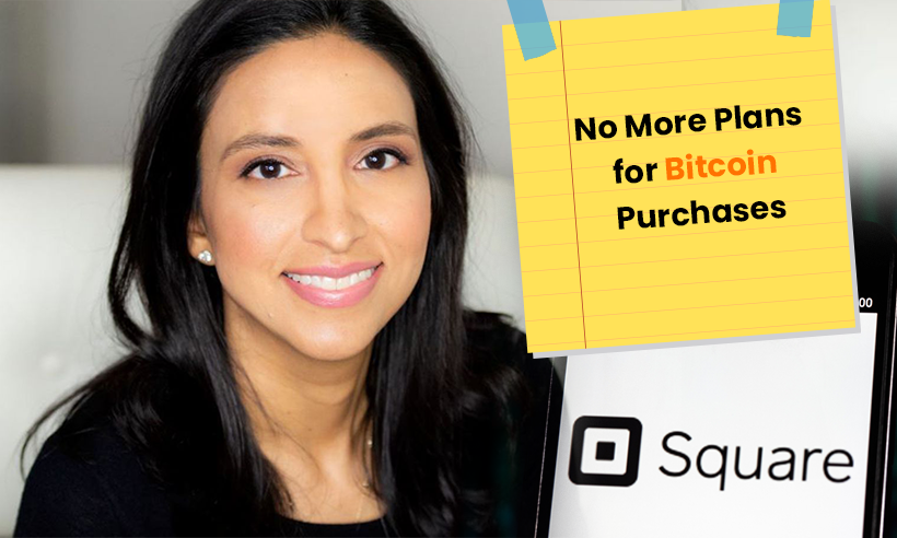 Amrita Ahuja From Square Reveals Payment Company Doesn't Plan More Bitcoin Purchases