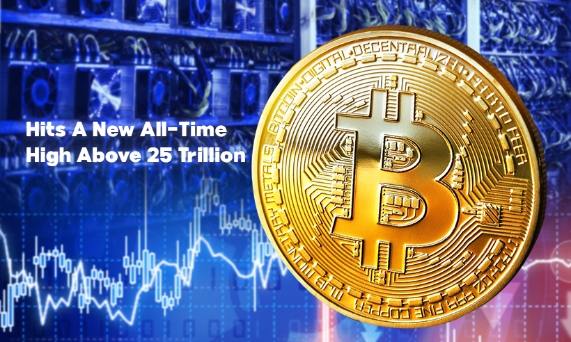 Bitcoin Mining Difficulty Hits A New All-Time High Above 25 Trillion