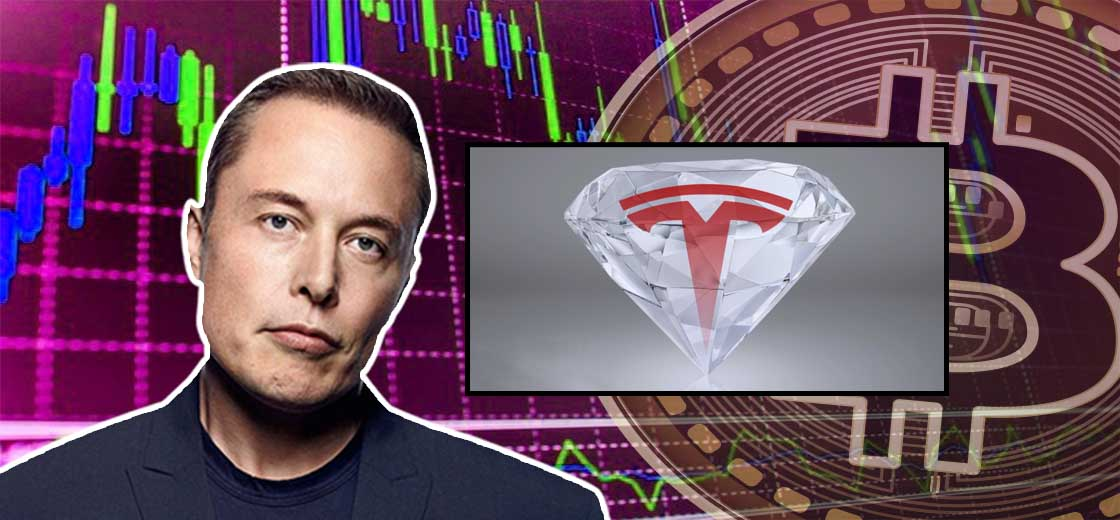 "Elon Musk Tweets ""Diamond Hands"" Amid Crypto Crash, Won't Sell $1.5B Stake"