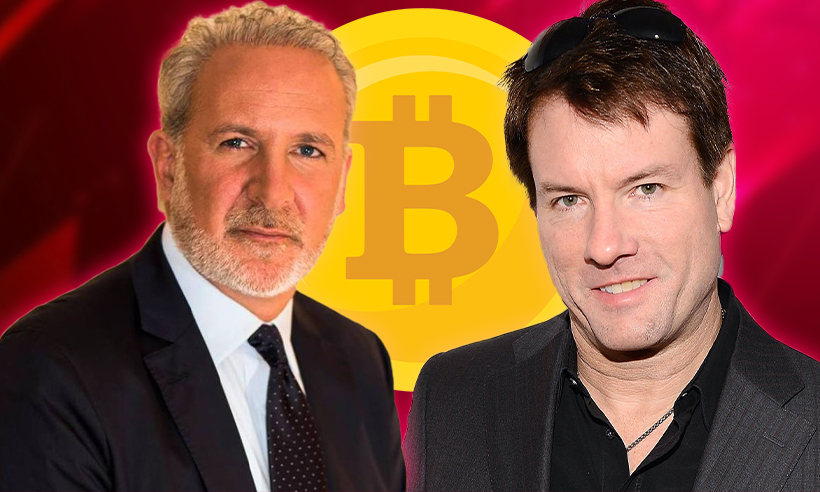 Peter Schiff and Michael Saylor Engage in a Twitter Spat Over Bitcoin