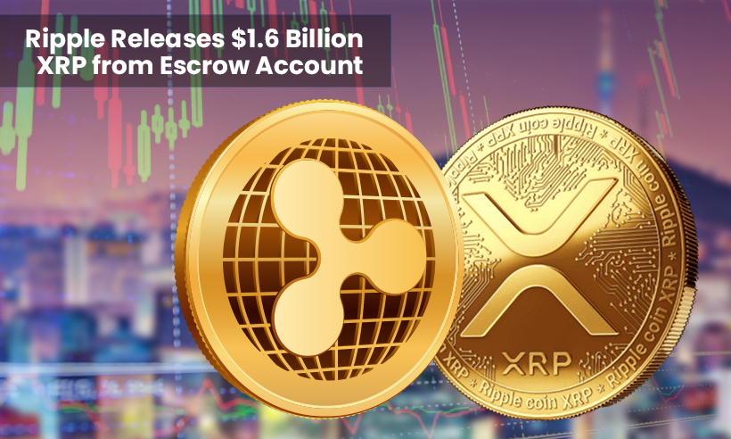 Ripple Releases $1.6 Billion XRP from Escrow Account
