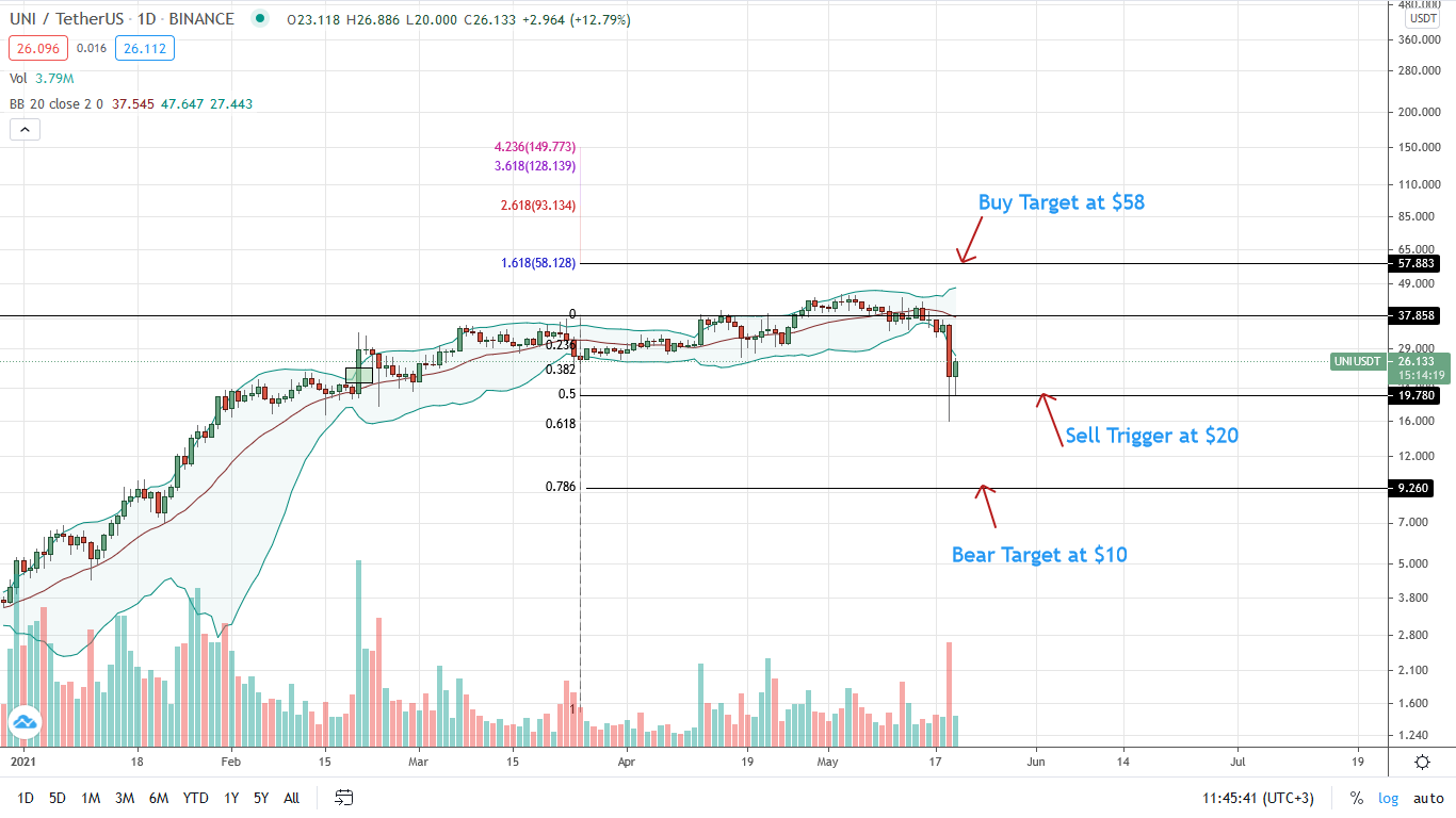 Uniswap Price Daily Chart for May 20